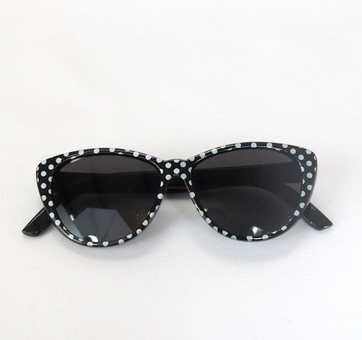 Black Polka Dot Sunglasses
