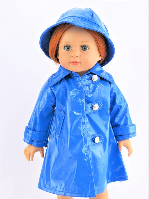 Blue Raincoat with Hat
