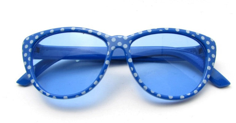 Blue Polka Dot Sunglasses