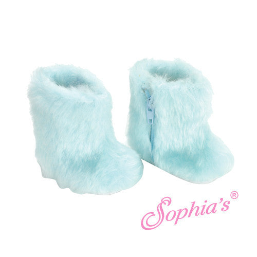 Furry Aqua Snow Boots