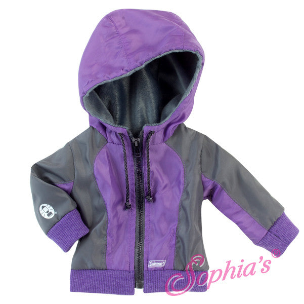 Coleman® Hooded Purple & Gray Jacket