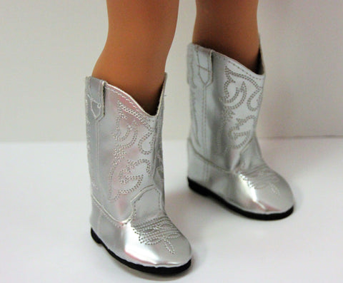 Metallic Silver Cowgirl Boots