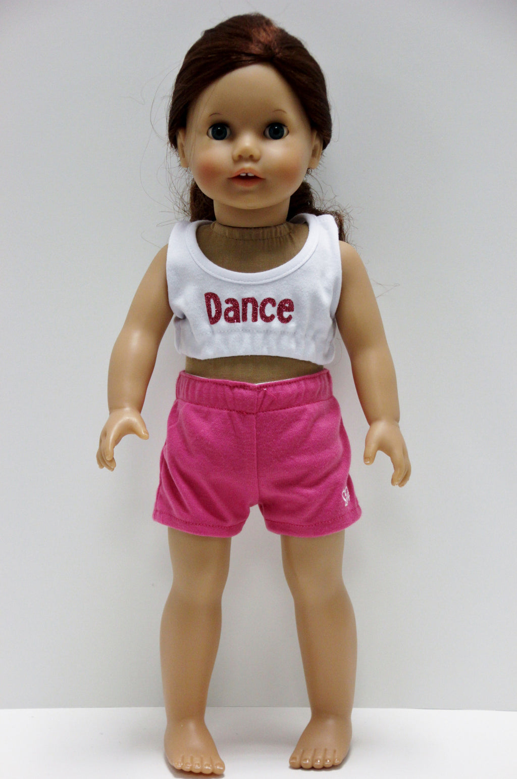 Dance white top/hot pink shorts