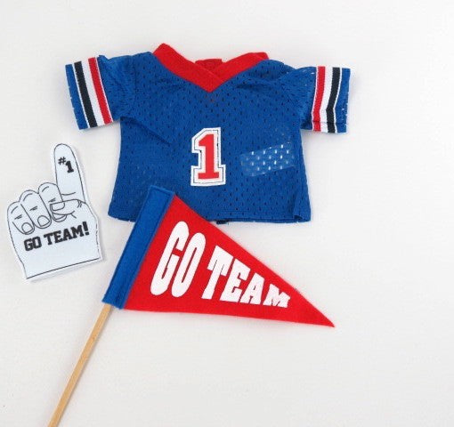 Football Jersey with Pennant & Foam Finger