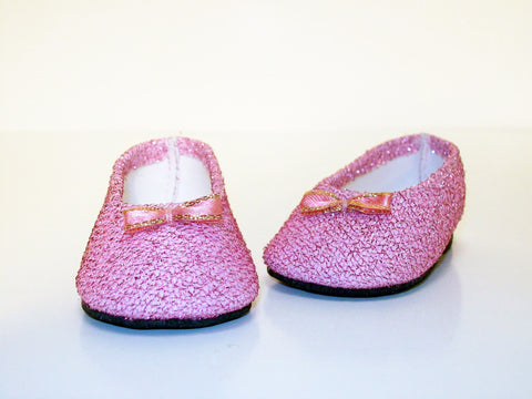 Pink Glitter Dress Shoes