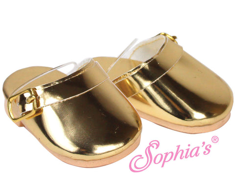 Gold Metallic Clogs