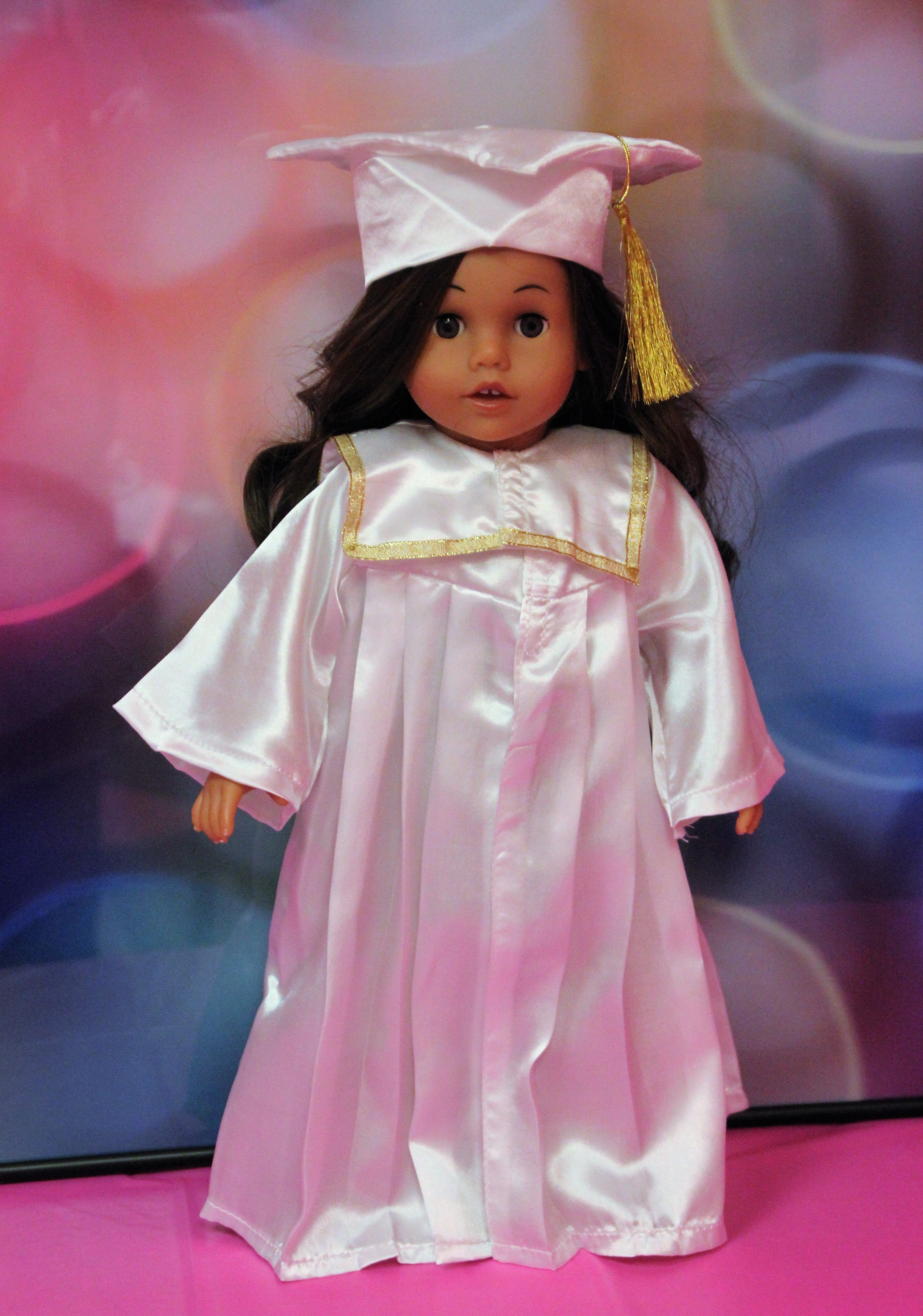 White Graduation Cap and Gown – Alice\'s Attic Doll Clothes