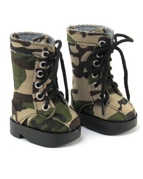 Green Camo Army Boots