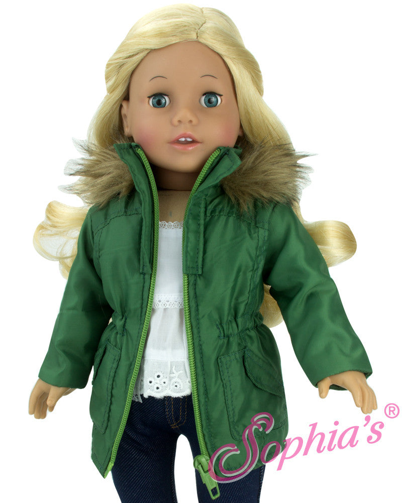 Green Puffy Coat