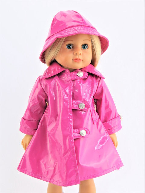 Hot Pink Raincoat with Hat