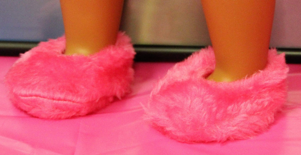 Hot Pink Fuzzy Slippers