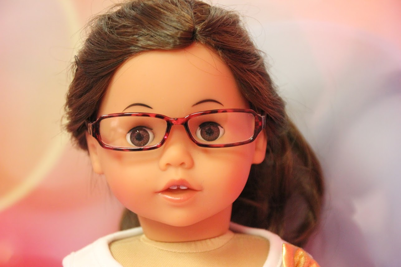 5fe5d501b49 Pink Tortoise Shell Glasses – Alice s Attic Doll Clothes