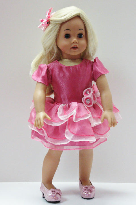 Pink Ruffle Party Dress