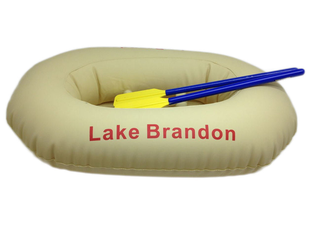 Inflatable Boat with Oars