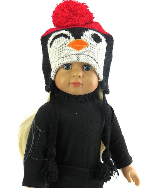 Black Knit Penquin Hat