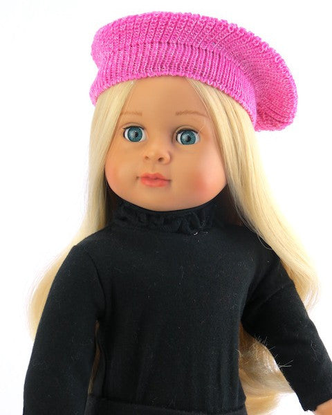 58f98bc19411f Pink French Beret Hat – Alice s Attic Doll Clothes