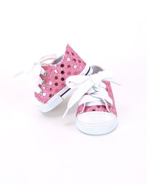 Pink Sequin Sneakers