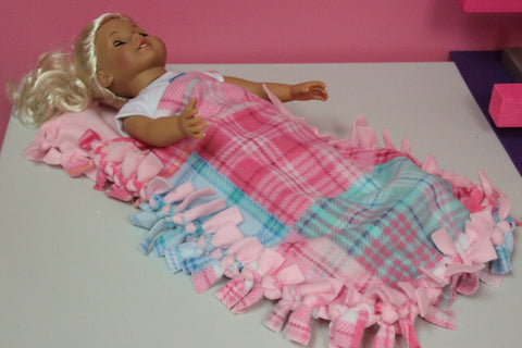 Birthday Party Craft--Doll Size Fleece Tie Sleeping Bag