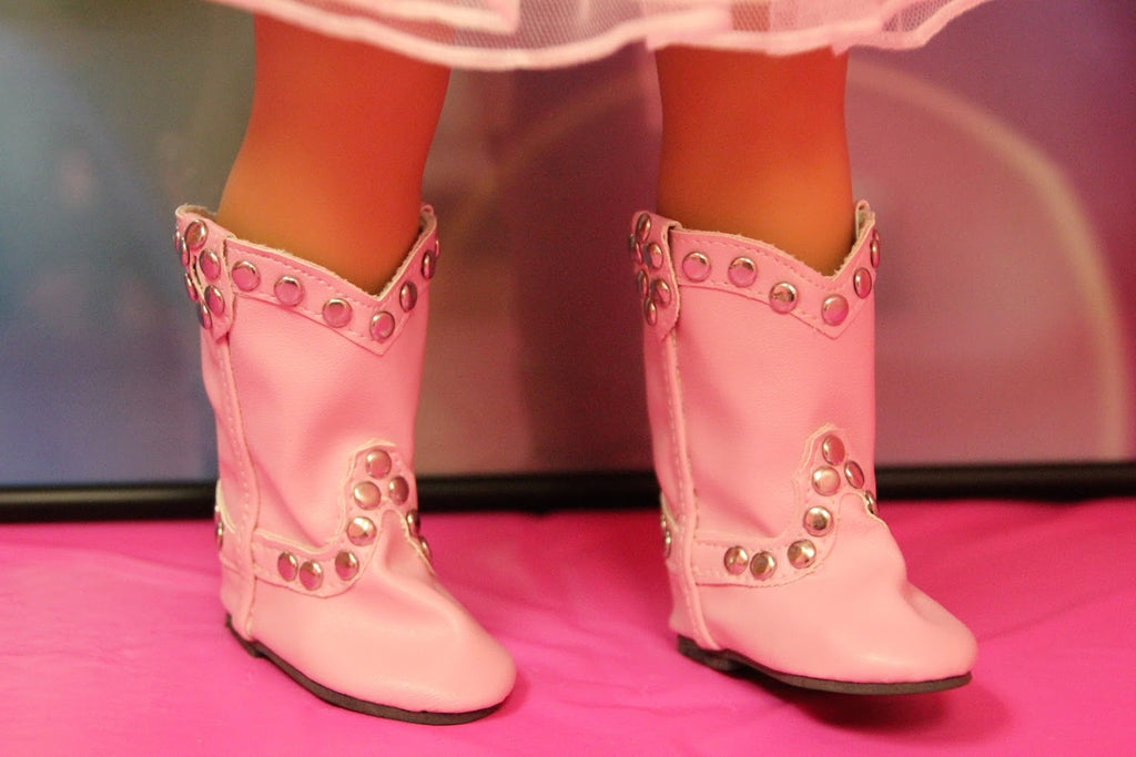 Pink Studded Cowgirl Boots