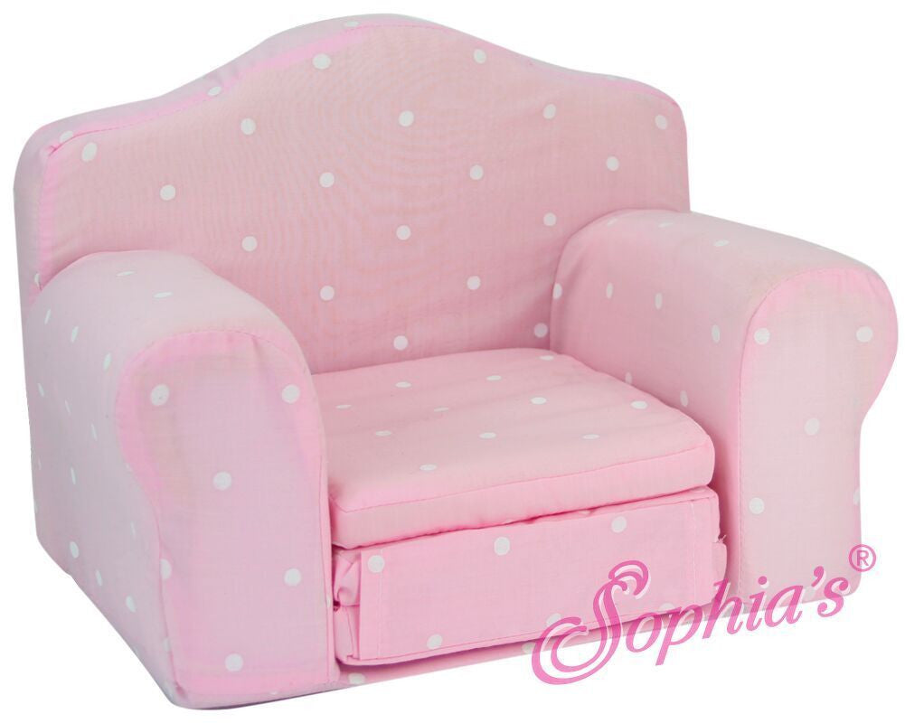 Pink Chair with Fold Out Bed