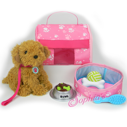 Puppy and 9 Piece Accessory Set