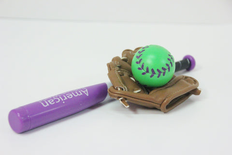 Purple Bat, Ball & Glove