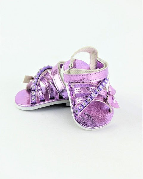Purple Metallic Sandals