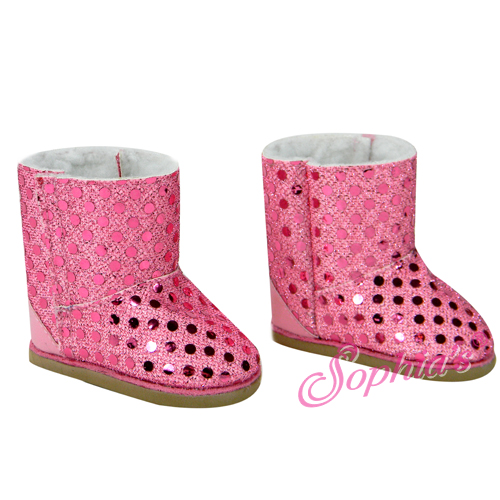 Pink Sequin Boots