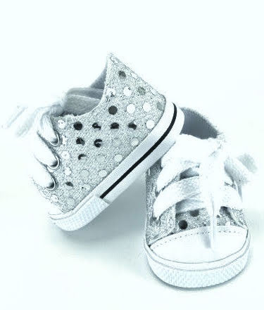 Silver Sequin Sneakers