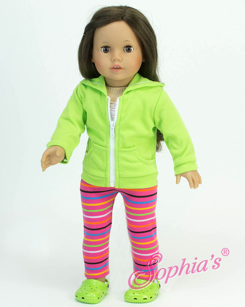 Lime Green Hooded Sweatshirt