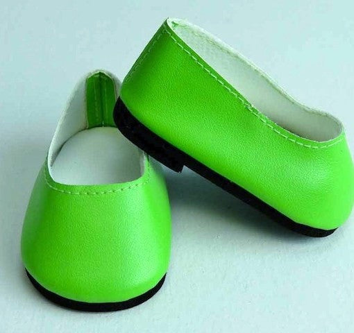 Lime green slip on shoes