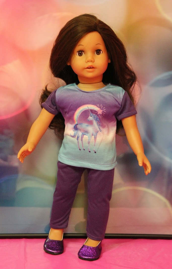 Purple & Aqua Unicorn Leggings Outfit