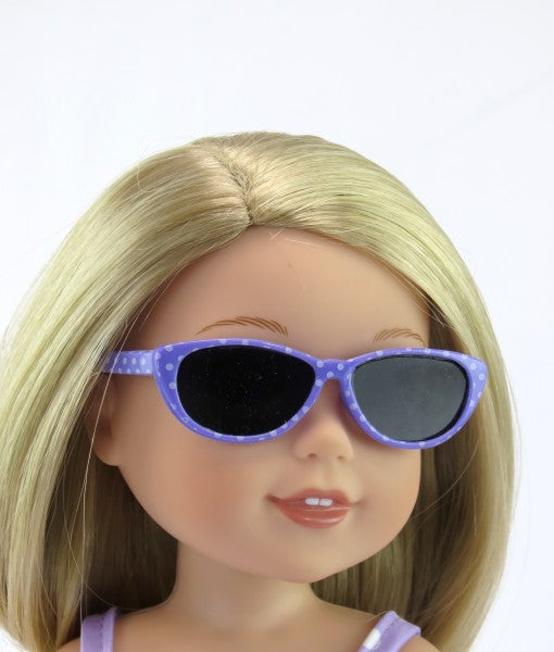 WW Lavender Polka Dot Sunglasses