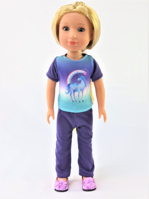 WW Purple & Aqua Unicorn Leggings Outfit