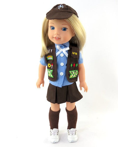 WW Brownie Girl Scout Uniform