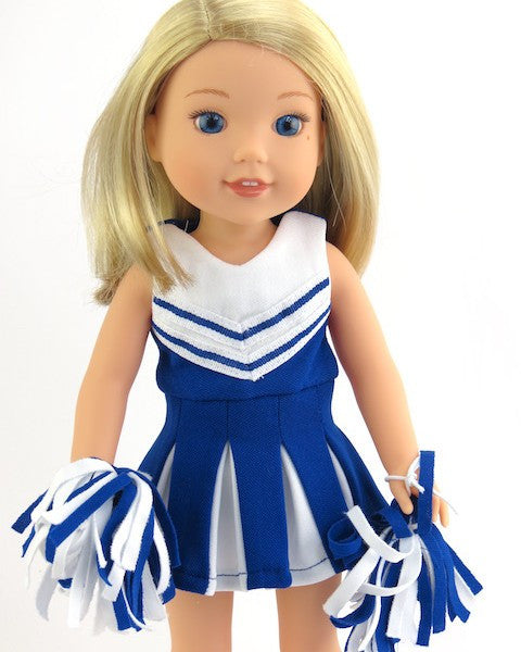 WW Blue Cheerleader Uniform