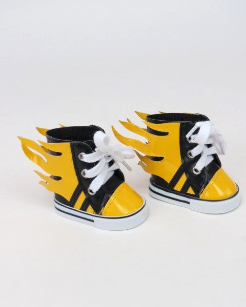 Yellow Flaming High Top Sneakers