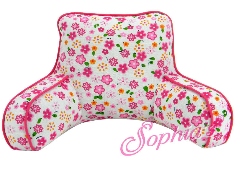 Pink Floral Back Rest Pillow