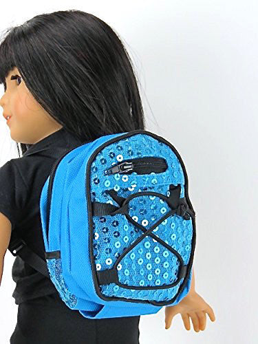 Blue Sequin Backpack