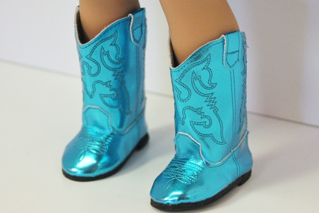 Metallic Teal Cowgirl Boots