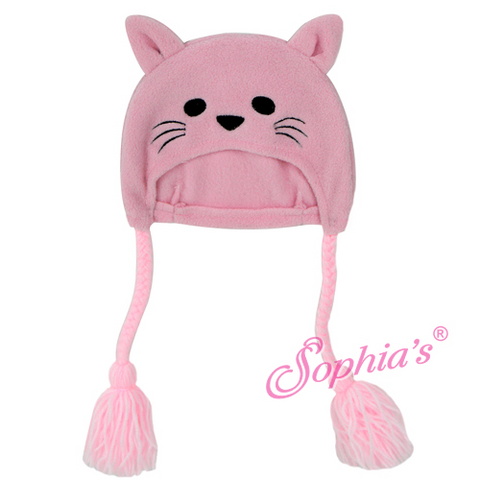 Pink Kitten Face Hat