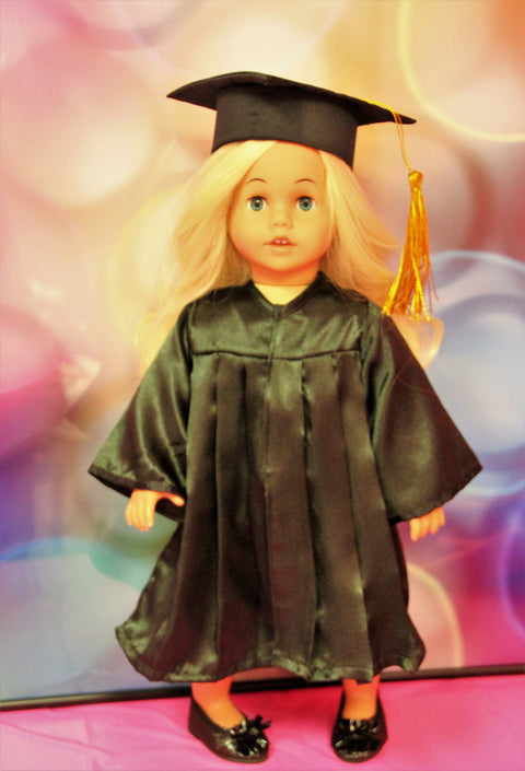 Black Graduation Cap & Gown