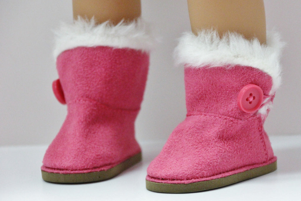Hot Pink Side Button Boots