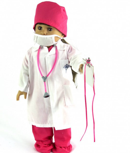 Hot Pink Doctor Scrubs