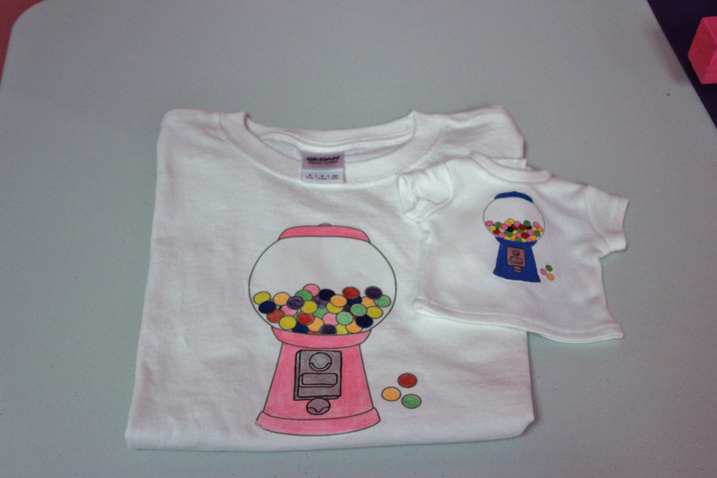 Birthday Party Craft--Matching Doll & Girl Embellished T-shirts