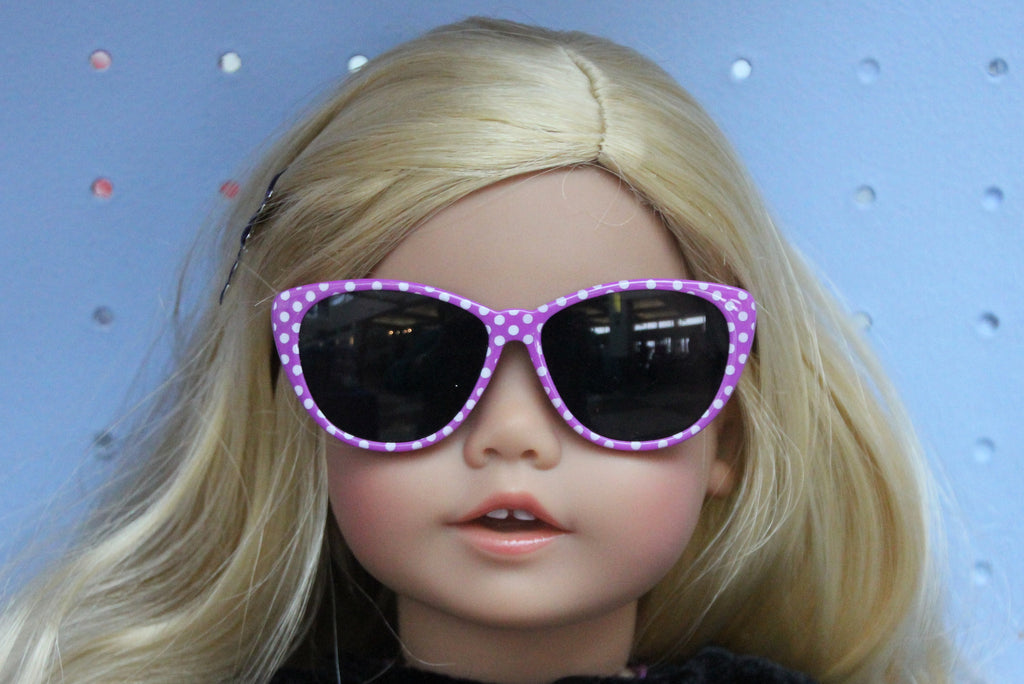 Purple Polka Dot Sunglasses