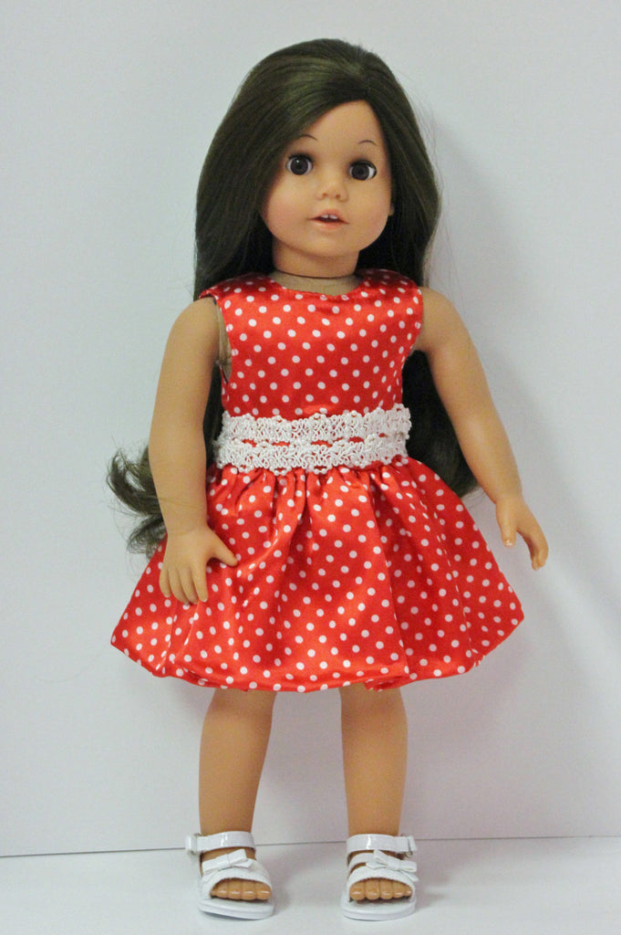 Red & White Polka Dot Dress