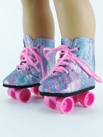 Rainbow Colored Roller Skates
