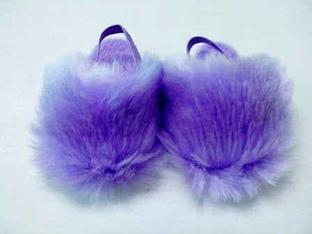 Purple Fuzzy Slippers