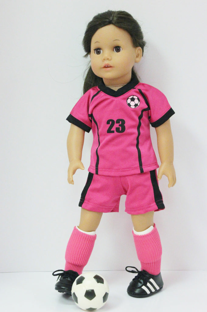 Hot Pink & Black Soccer Uniform